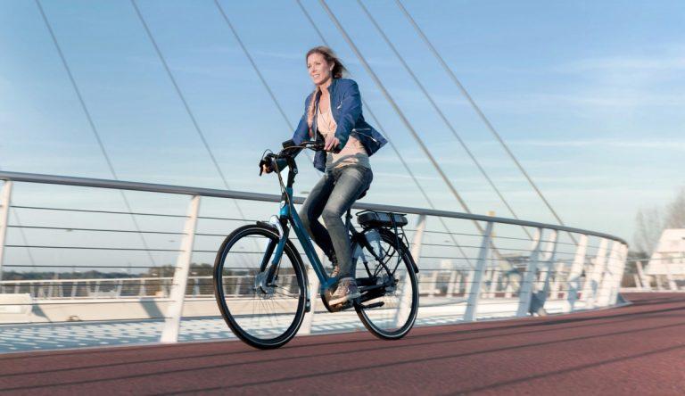 Elektrische fiets naar het werk